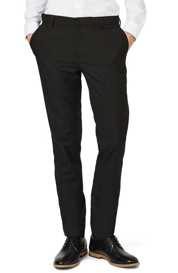 Men's Topman Skinny Fit Pants, Size 38 x 34 - Black