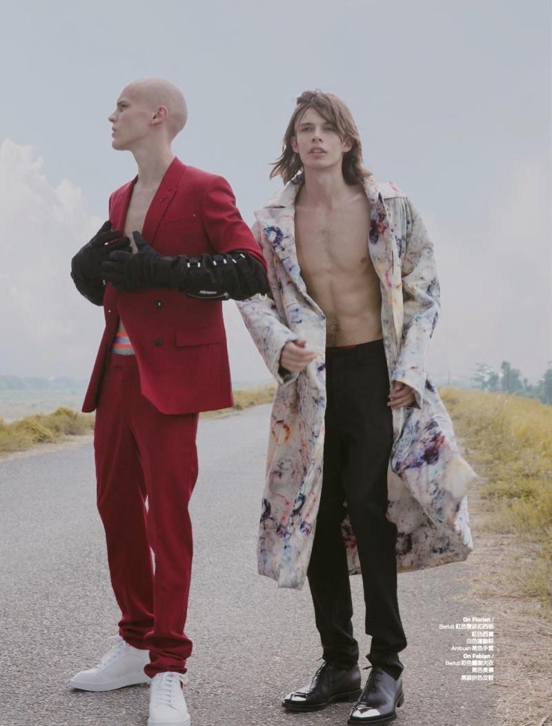 Devin, Fabian & Florian Enter a 'Fashion Wonderland' for Men's Uno Hong Kong