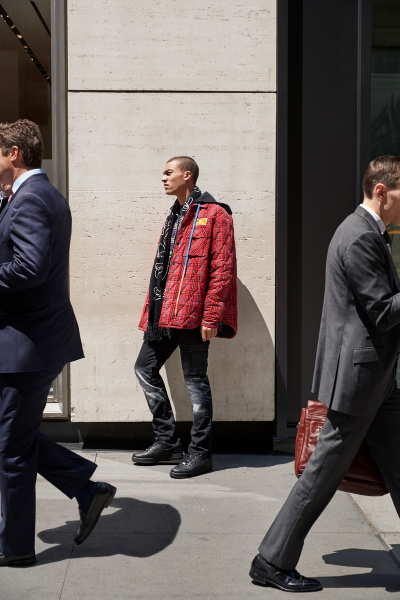 Taking to the streets of New York City, Myles Gable stars in Nordstrom's fall 2019 campaign.