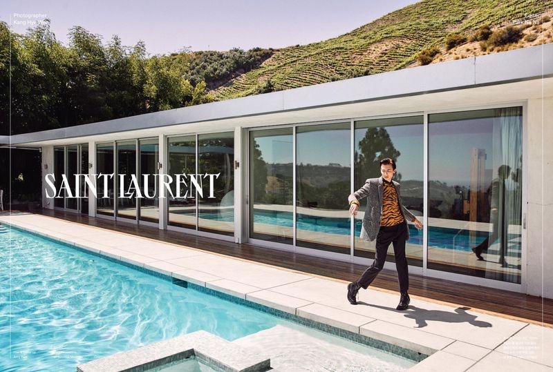 Paul Hameline Dons Saint Laurent for GQ Korea Cover Story