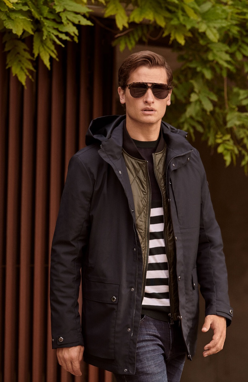 Tom Warren  dons a casual fall 2019 look from Pedro del Hierro.