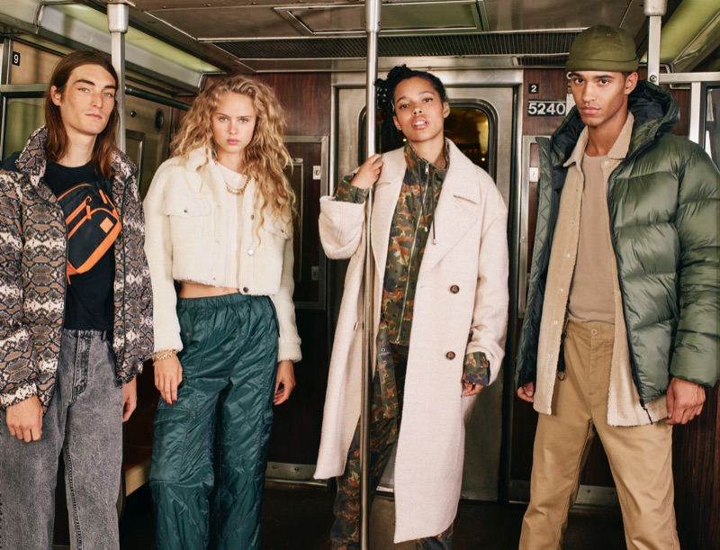 Ben Toms photographs Niko Traubman, Olivia Vinten, Ruby Campbell, and Hector Diaz for Pull & Bear's fall-winter 2019 campaign.