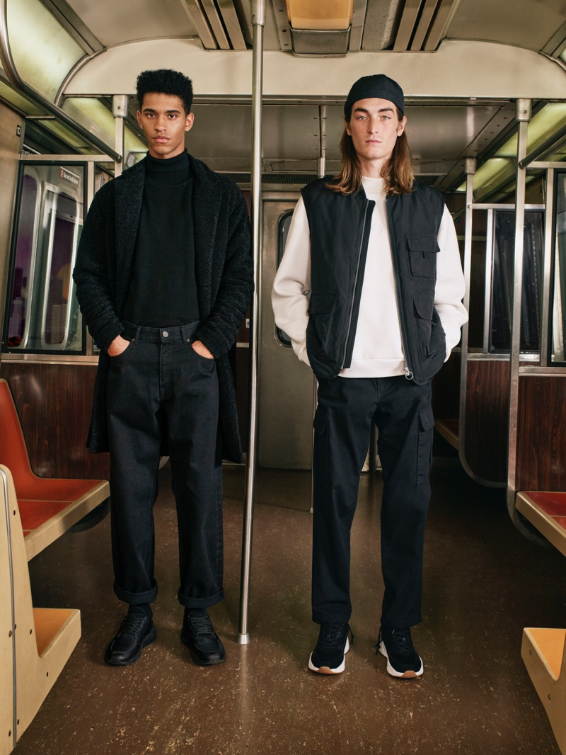Hector Diaz and Niko Traubman star in Pull & Bear's fall-winter 2019 campaign.