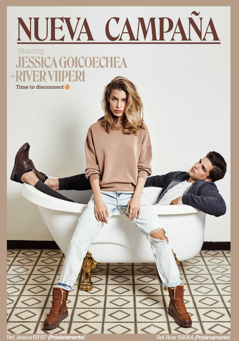 Jessica Goicoechea and River Viiperi front Refresh Shoes' fall-winter 2019 campaign.