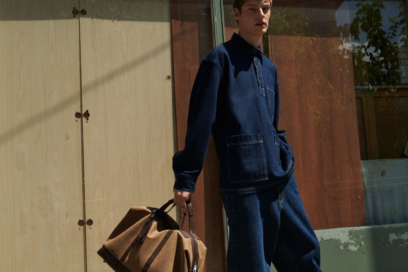 Doubling down on denim, Roberto Sipos wears Reserved.