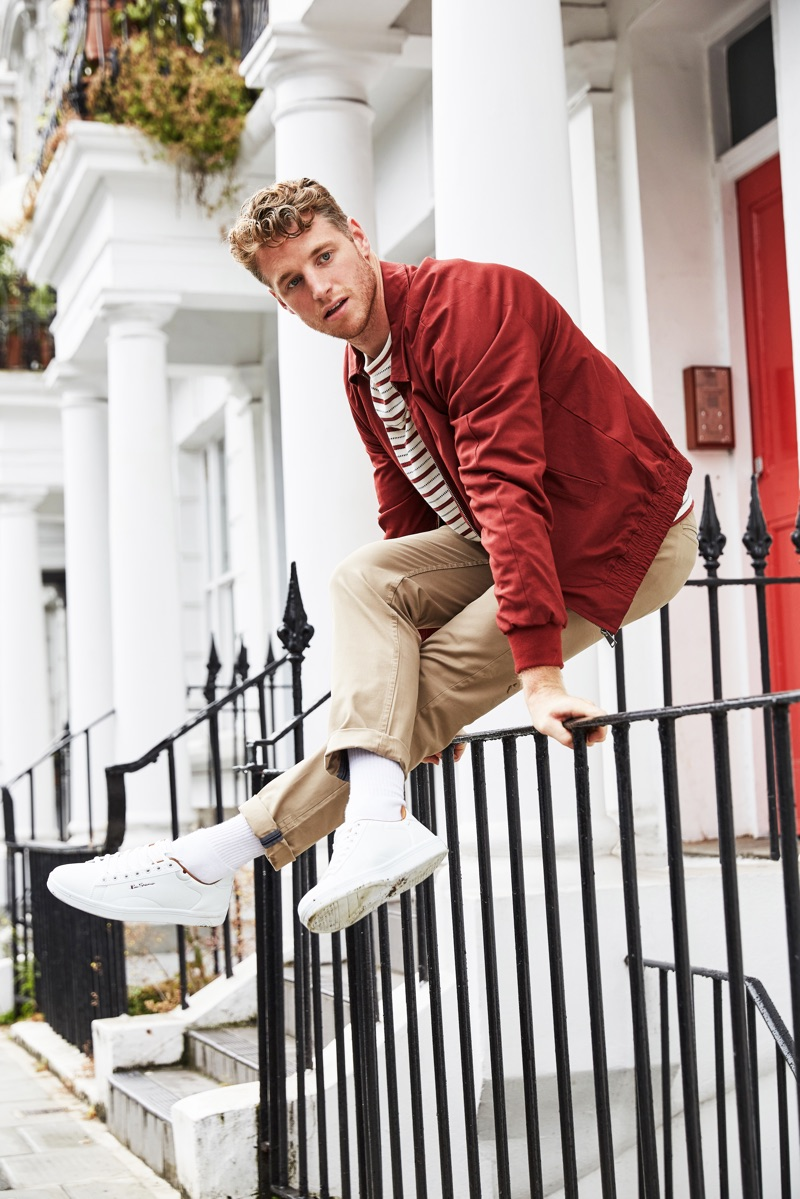 Model and fitness expert Roger Frampton sports a smart look from Ben Sherman.