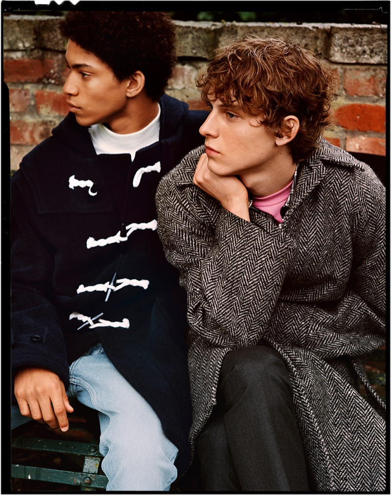 Sandro enlists Jeranimo van Russel and Serge Sergeev as the stars of its fall-winter 2019 campaign.
