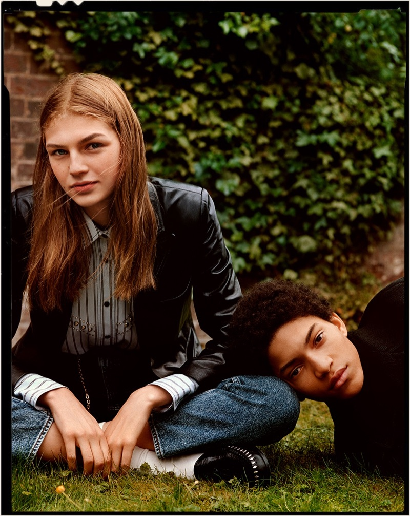Deirdre Firinne and Jeranimo van Russel appear in Sandro's fall-winter 2019 campaign.