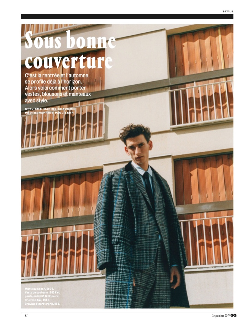 Thibaud Charon Takes Cover in Fall Outerwear for GQ France