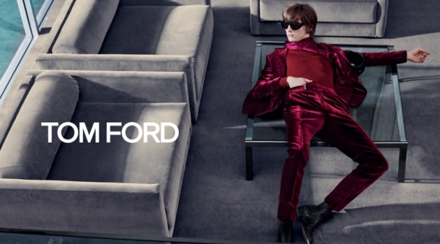 Erik van Gils stars in Tom Ford's fall-winter 2019 campaign.