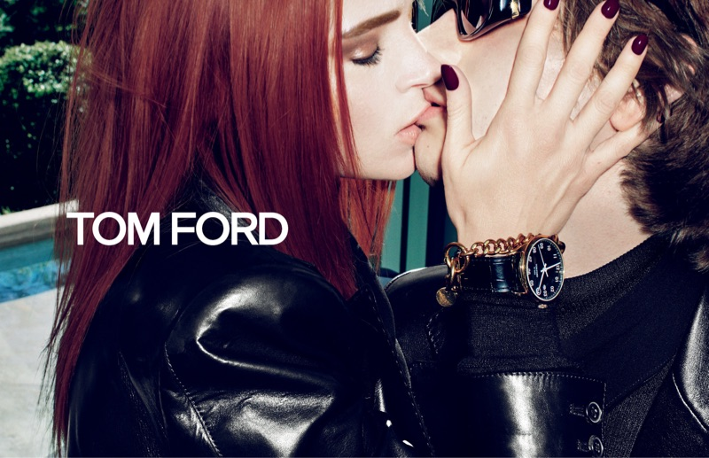 Mariacarla Boscono and Erik van Gils front Tom Ford's fall-winter 2019 campaign.