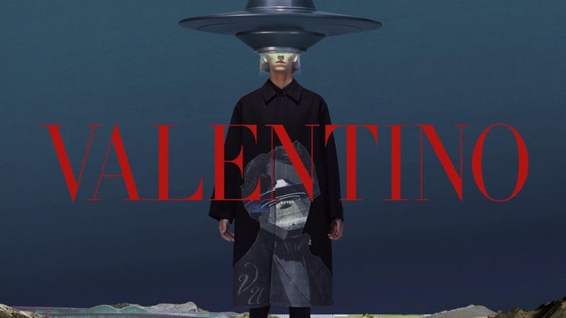 Ids Van Den Booren fronts Valentino's fall-winter 2019 men's campaign.