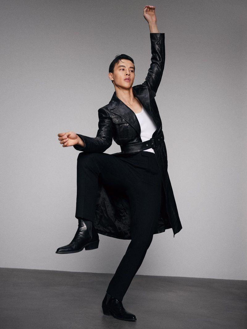 Yin Fang Inspires in Black Fall Fashions for Grazia China