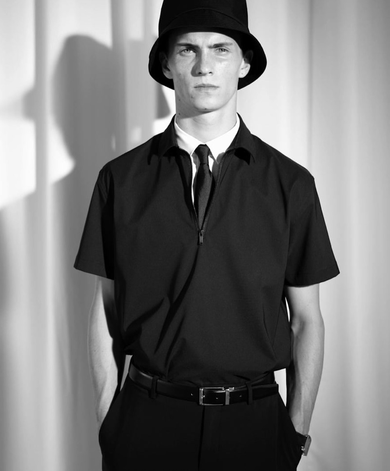 Front and center, Luc Defont-Saviard showcases styles from Zara Man's traveler collection.