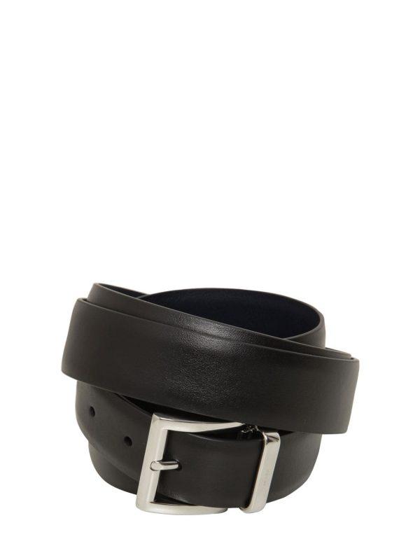 3.5cm Calfskin Double Belt W/buckle