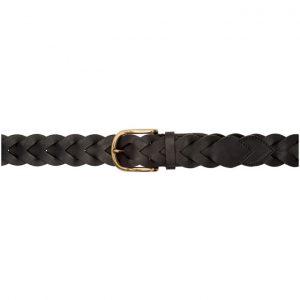 AMI Alexandre Mattiussi Black Braided Belt