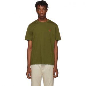AMI Alexandre Mattiussi Khaki Ami De Coeur T-Shirt