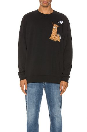 Acne Studios Forba Animal Sweatshirt in Black