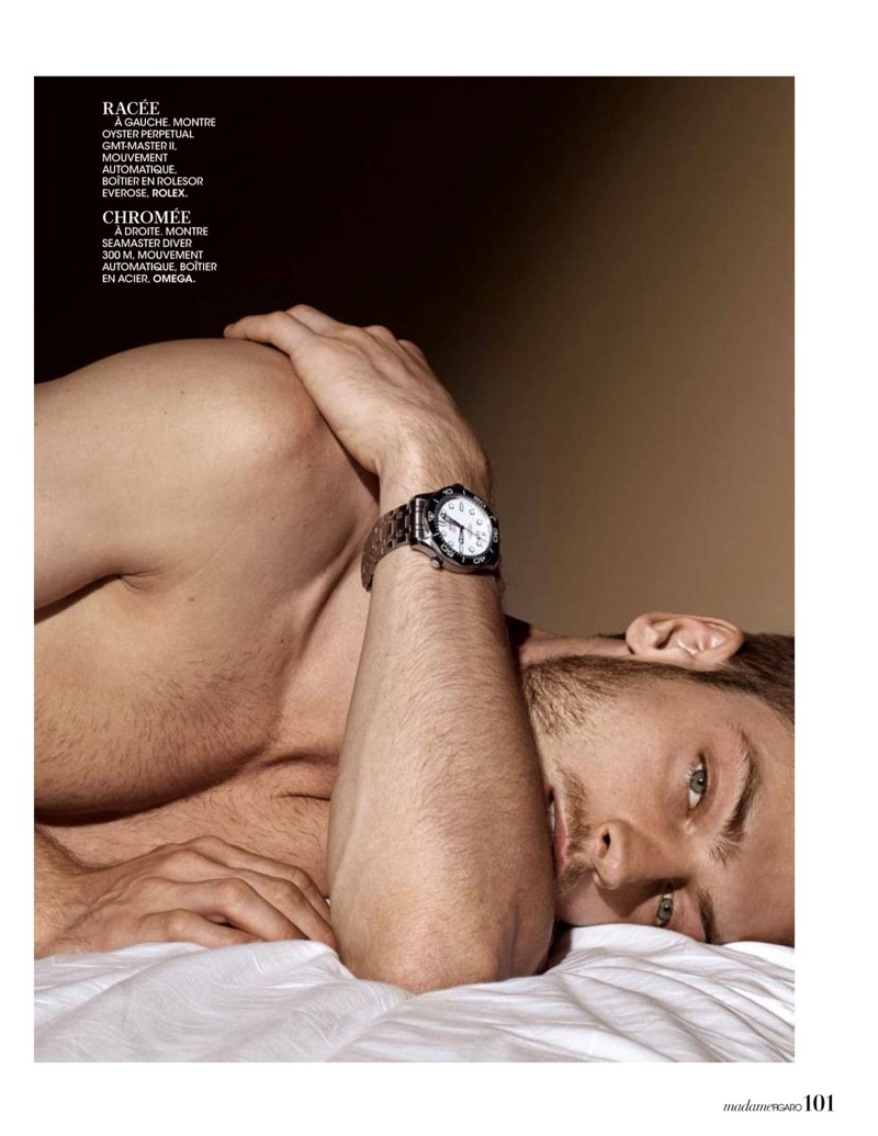 Adrien Jacques Models Timepieces for Madame Figaro