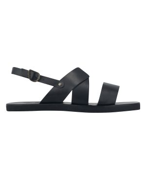Ancient Greek Sandals Miltos Leather Beach Sandal in Black