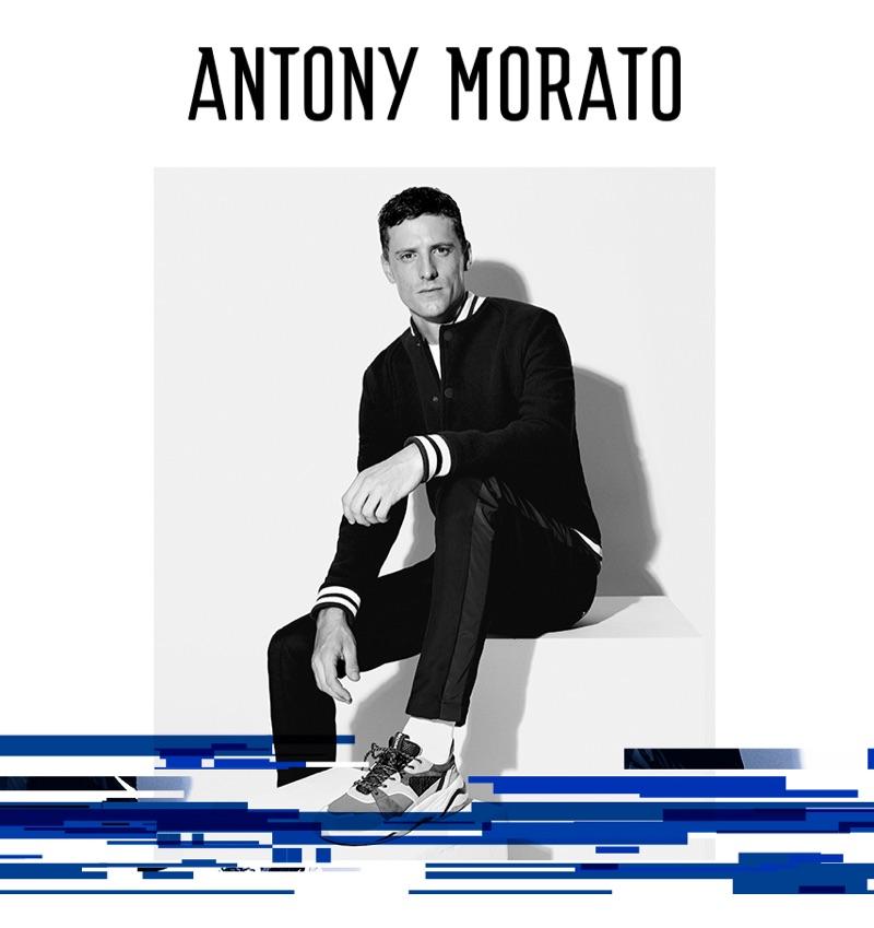 A sporty but smart vision, George Barnett stars in Antony Morato's fall-winter 2019 campaign.