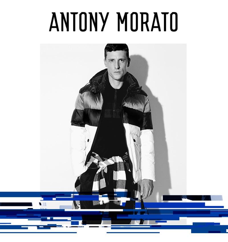 Going sporty, George Barnett fronts Antony Morato's fall-winter 2019 campaign.
