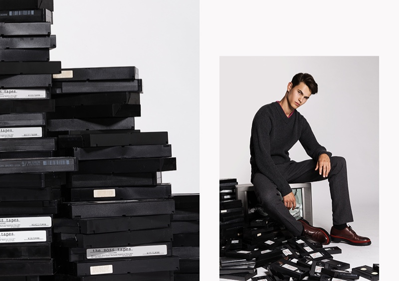 Nicolas brushes up on smart fall style with a look by BOSS.