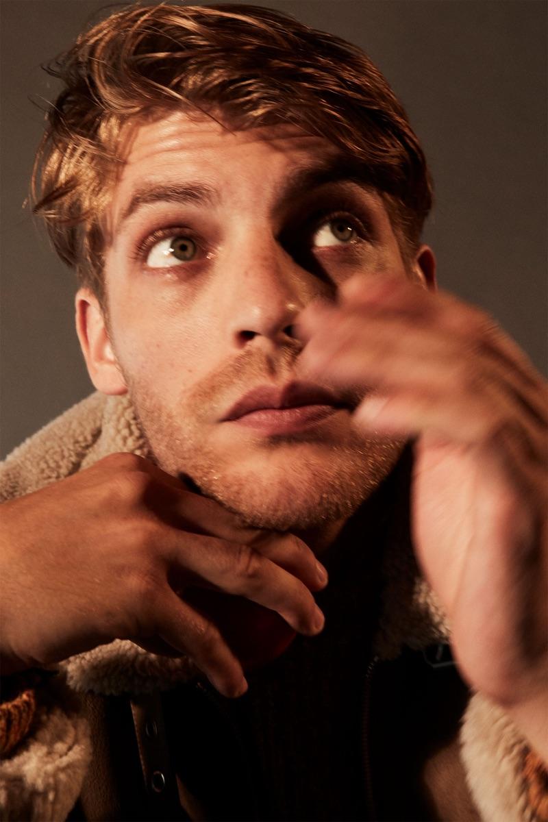 Baptiste Radufe stars in a fall editorial for Zara.
