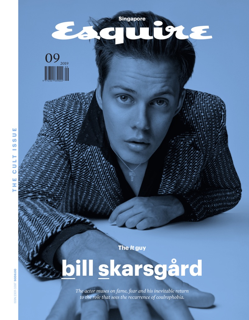 Bill Skarsgård covers the September 2019 issue of Esquire Singapore.