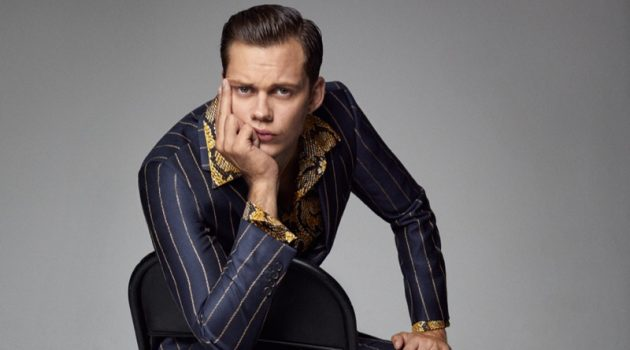 Bill Skarsgård Covers Esquire Singapore, Discusses Pennywise Transformation