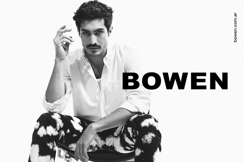 A sleek vision, Chino Darín connects with Bowen for its spring-summer 2020 campaign.