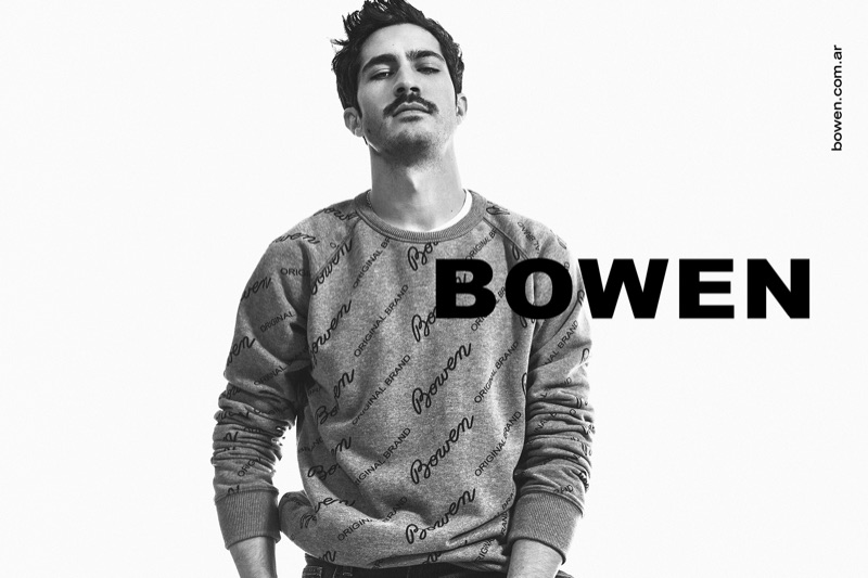 Front and center, Chino Darín appears in Bowen's spring-summer 2020 campaign.