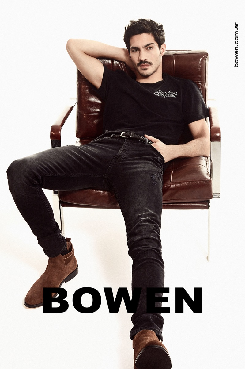 Argentine actor Chino Darín appears in Bowen's spring-summer 2020 campaign.