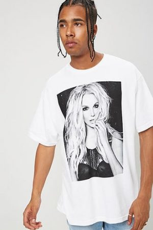 Britney Spears Graphic Tee at Forever 21 , White/black