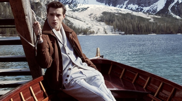 Adrien Sahores wears a chic look from Brunello Cucinelli for Neiman Marcus.