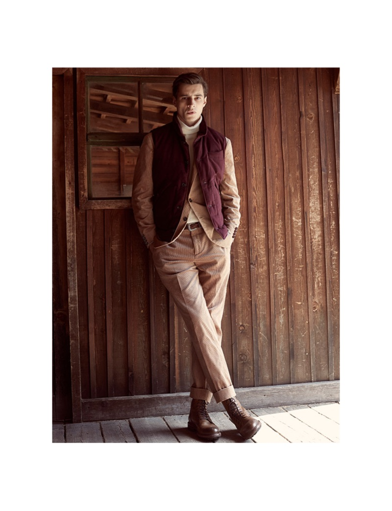 Front and center, Adrien Sahores dons Brunello Cucinelli.