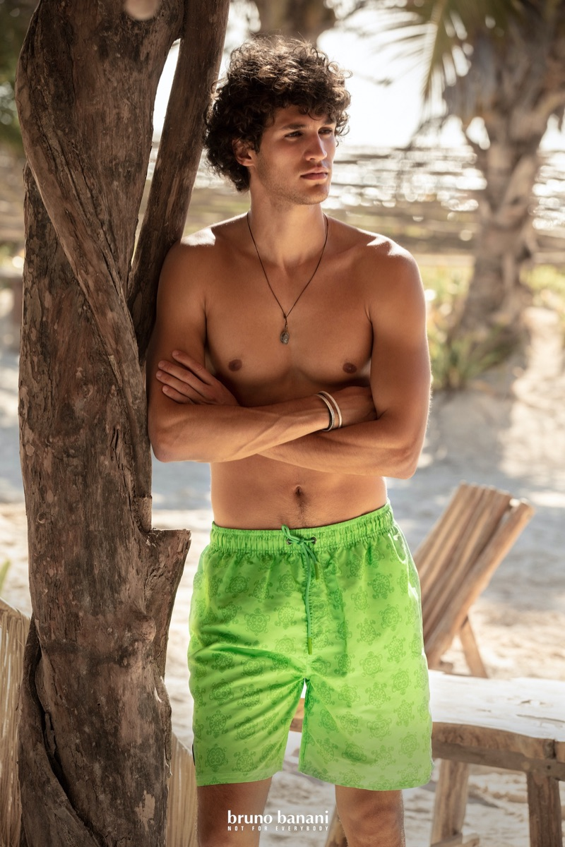 Francisco Henriques fronts Bruno Banani's summer 2020 campaign.