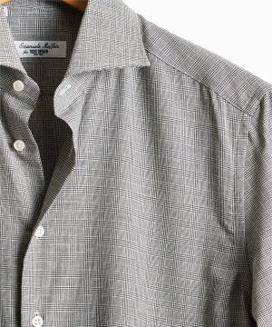 Camiceria E. Maffeis Dress Shirt in Grey Glenn Plaid