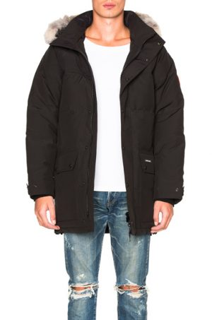 Canada Goose Emory Parka with Coyote Fur in Black