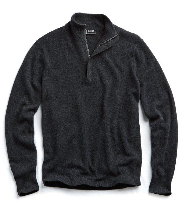 Cashmere Half-zip in Grey