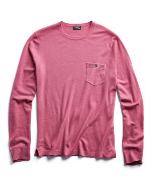 Cashmere T-Shirt in Mauve