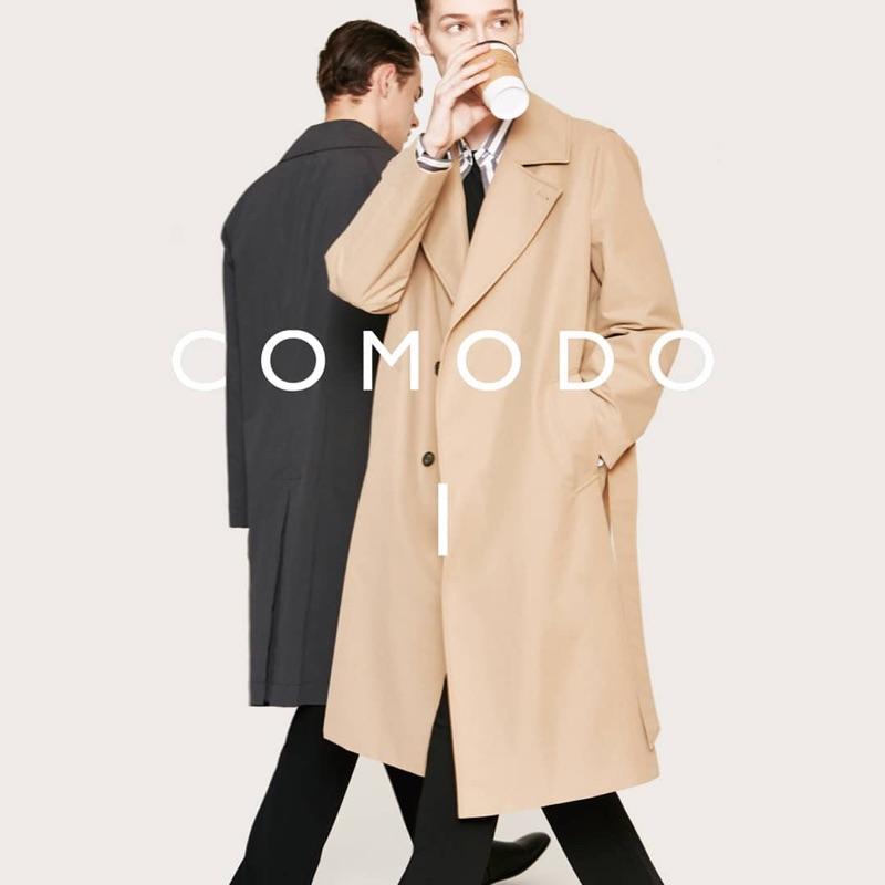 Damian Gałkowski and Guillaume D. front Comodo Korea's fall-winter 2019 campaign.