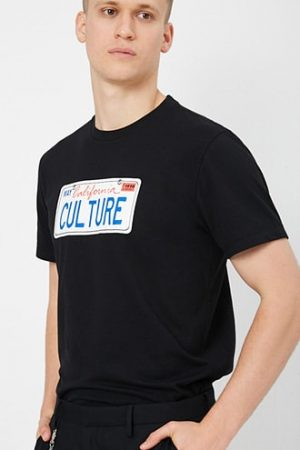 Culture Plate Graphic Tee at Forever 21 , Black/white