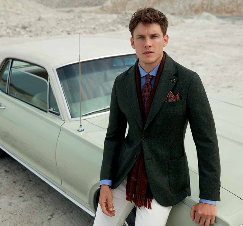 Chris Doe dons a dapper look for Damat's fall-winter 2019 campaign.