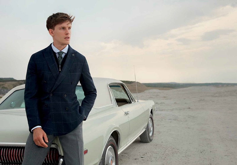 Hitting the road, Chris Doe fronts Damat's fall-winter 2019 campaign.