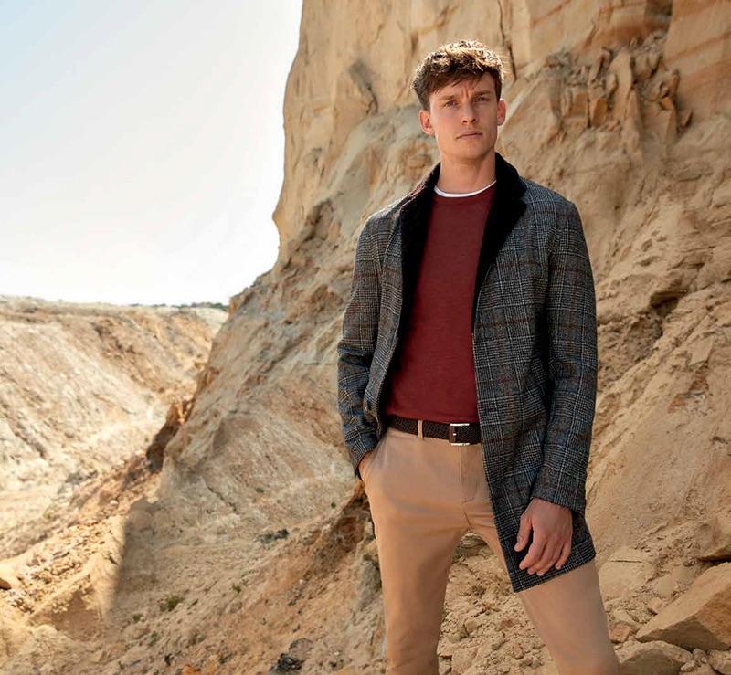 Model Chris Doe appears in Damat's fall-winter 2019 campaign.