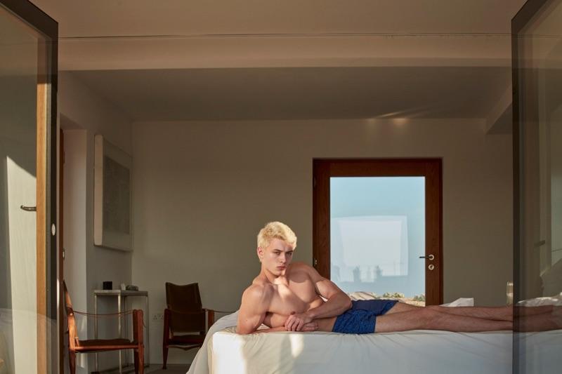 Connecting with Derek Rose, João Knorr rocks the brand's underwear.
