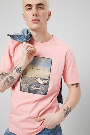 Dirt Bike Graphic Tee at Forever 21 , Pink/multi