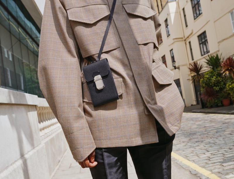 Perfect for the man on the move, Dunhill delivers a stylish phone holder as part of its leather Belgrave collection.