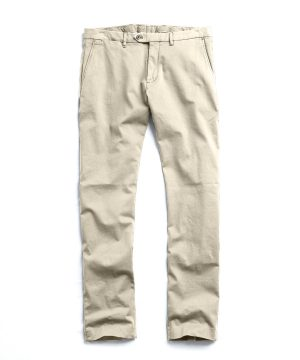 Extra Slim Fit Tab Front Stretch Chino in Khaki